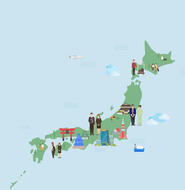 イラスト:日本地図